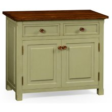 Gustavian Style Two Door Cupboard with Drawers