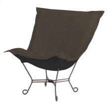 Scroll Puff Chair Sterling Charcoal Titanium Frame