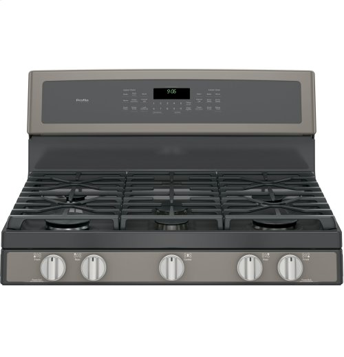 """GE Profile Series 30"""" Free-Standing Gas Double Oven Convection Range"""