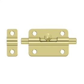 """3"""" Barrel Bolt - Polished Brass"""