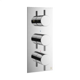 MPRO 2000 Thermo Valve Trim (2 Outlets) - Polished Chrome