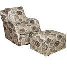 Jessica Swivel Glide Chair, Jessica Glide Ottoman Product Image