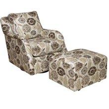 Jessica Swivel Glide Chair, Jessica Glide Ottoman