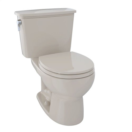 Eco Drake® Transitional Two-Piece Toilet, 1.28 GPF, Round Bowl - Bone