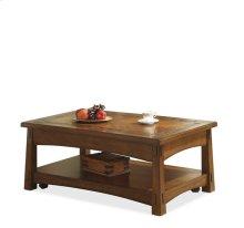 Craftsman Home Lift-Top Coffee Table Americana Oak finish