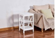 6605 White End Table Product Image