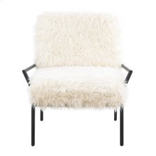 Emerald Home Royal Accent Chair Metal W/faux Fur Matte Black Frame U3518-05-09