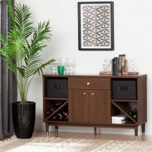 Mid-Century modern Sideboard Storage Cabinet - Brown Walnut