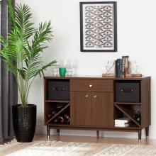 Mid-Century modern Sideboard Storage Cabinet - Brown Walnut