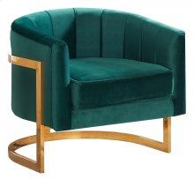 """Carter Velvet Accent Chair - 31.5""""L x 28.5""""D x 27.5""""H"""