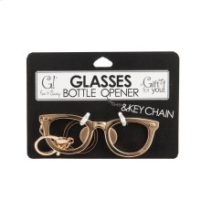 Eyeglass Bottle Opener with Keychain