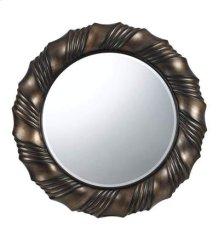 Starke round polyurethane beveled mirror
