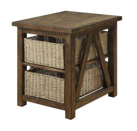 End Table-burnished Oak Finish-set Up