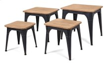 Harlow Wood and Metal Nesting Display Tables - Set of 4