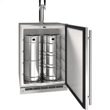 "Outdoor Collection 24"" Keg Refrigerator With Stainless Solid Finish and Field Reversible Door Swing (115 Volts / 60 Hz)"