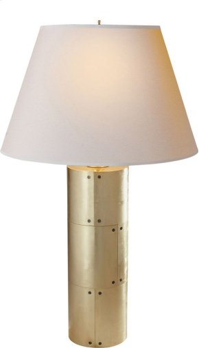 Visual Comfort AH3034NB-NP Alexa Hampton Yul 30 inch 40 watt Natural Brass Decorative Table Lamp Portable Light