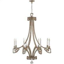 Visual Comfort NW5160ASL-CG Niermann Weeks Gallina 6 Light 39 inch Antique Silver Leaf Chandelier Ceiling Light, Medium