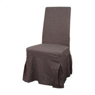 Slipcover Emily Fabric Chair, Gunmetal