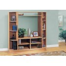 BOOKCASE - MAPLE WITH A SILVER BASE / STORAGE UNIT Product Image
