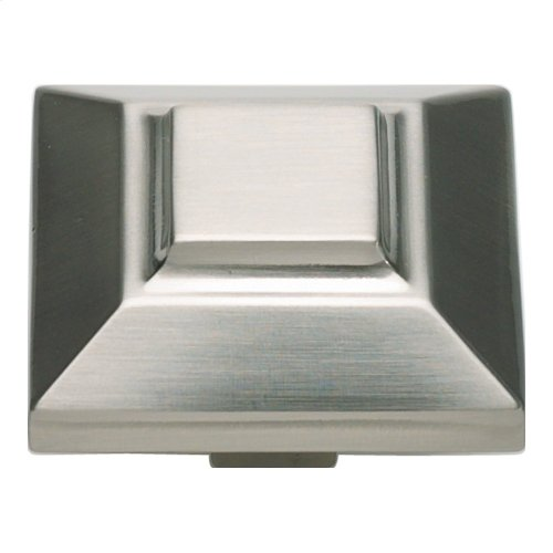Trocadero Large Square Knob 1 1/2 Inch - Brushed Nickel