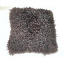 Lamb Fur Pillow Brown