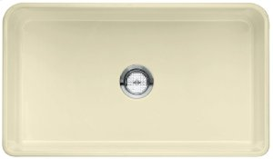 """Blanco Cerana® II 33"""" Single Bowl With Apron - Biscuit"""