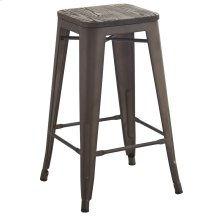 Modus 26'' Counter Stool, set of 4, in Gunmetal