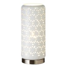 White Starburst Hurricane Lamp. 40W Max.