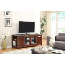 OAK ARTIFICIAL MARBLE TOP TV STAND