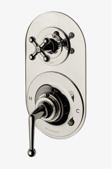 Dash Metal Lever Handle Thermostatic with Metal Cross Handle Two way Diverter Trim STYLE: DSTH32