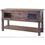 Sofa Table w/2 drawers, 2 glass doors Product Image