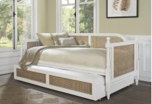 Melanie Daybed - Sides - White with Trundle