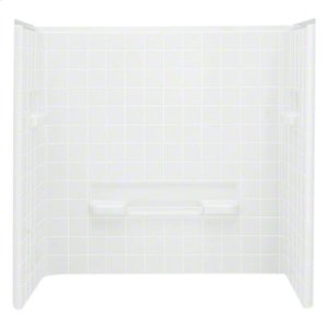 """All Pro®, Series 6104, 60"""" x 31-1/2"""" x 60"""" Bath/Shower - Wall Set - White Product Image"""