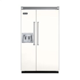 "Cotton White 48"" Quiet Cool™ Side-by-Side with dispenser - VISB Tru-Flush™ (48"" wide)"