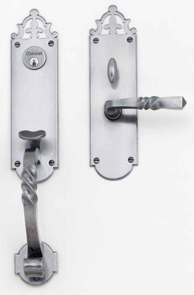 """Champlain Entrance Handle Set - Complete single cylinder set for 2 1/4"""" door"""