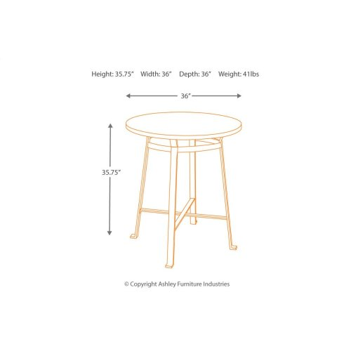Round Drm Counter Table