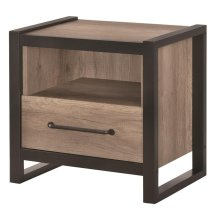 Edgewater Industrial Weathered Oak Nightstand