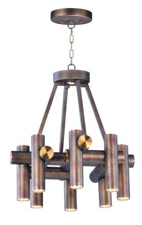 Tubular 9 Light LED Pendant