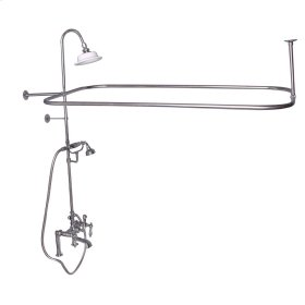 Rectangular Shower Unit - Metal Lever Handles - Polished Nickel
