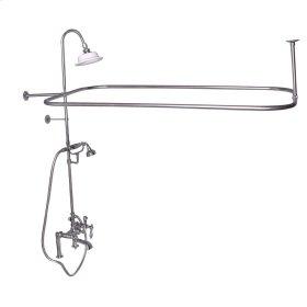 Rectangular Shower Unit - Metal Lever Handles - Brushed Nickel