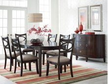 STANDARD 17141-17144 Serenity Oval Table With 18 Inch Leaf & 6 chairs