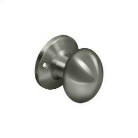 Egg Knob Dummy - Antique Nickel