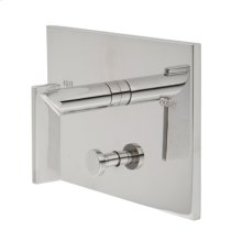 Flat Black Balanced Pressure Tub & Shower Diverter Plate with Handle. Less Showerhead, arm and flange.