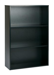 "Prado 48"" 3-shelf Bookcase With 3/4"" Shelves and 2 Adjustable Shelves In Black."