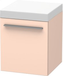 Mobile Storage Unit, Apricot Pearl Satin Matt Lacquer