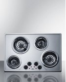 "30"" Wide 230v Electric Cooktop With Four Coil Elements and Stainless Steel Finish Product Image"