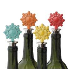 Flower Bottle Stopper (4 asstd).