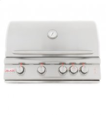 Blaze 32 Inch 4-Burner LTE Gas Grill With Rear Burner and Built-in Lighting System, With Fuel type - Propane