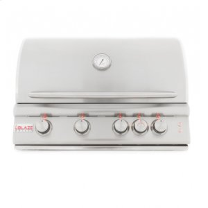 BLAZE GRILLSBlaze 32 Inch 4-Burner LTE Gas Grill With Rear Burner and Built-in Lighting System, With Fuel type - Propane