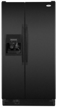 Black Whirlpool® 25 cu. ft. ENERGY STAR® Qualified Side-by-Side Refrigerator